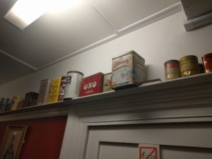 Old English food tins